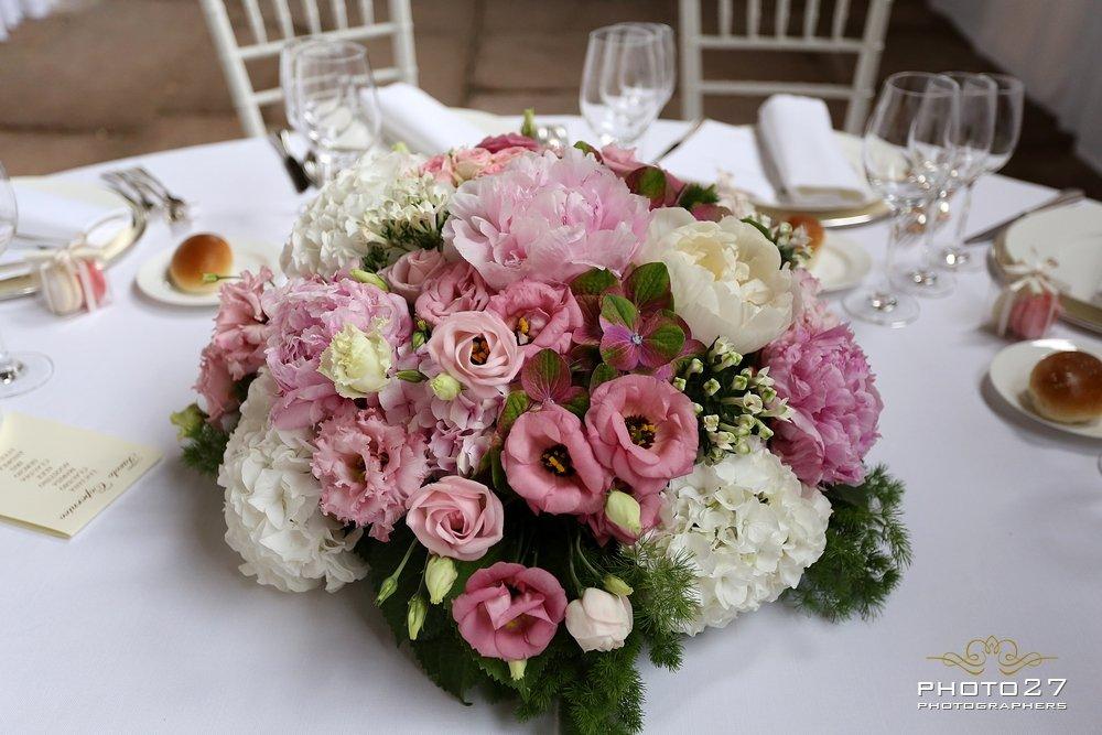 Centrotavola Ortensie E Peonie : Centrotavola di peonie ortensie e rose